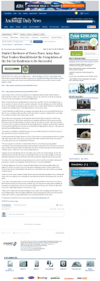 Dmitri Chavkerov  Anchorage Daily News  news story on long term trading success