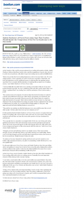 Dmitri Chavkerov  Boston Globe  news story on long term trading success