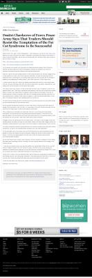 Dmitri Chavkerov  Business First of Buffalo  news story on long term trading success
