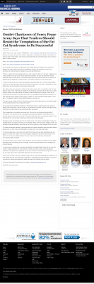 Dmitri Chavkerov  Kansas City Business Journal  news story on long term trading success