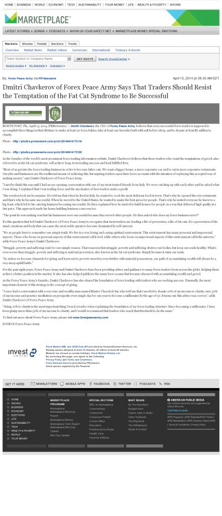 Dmitri Chavkerov Marketplace from American Public Media news story on long term trading success