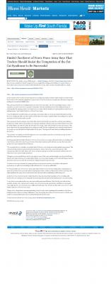 Dmitri Chavkerov  Miami Herald  news story on long term trading success