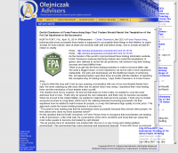 Dmitri Chavkerov  Olejniczak Advisors  news story on long term trading success