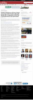 Dmitri Chavkerov  Orlando Business Journal  news story on long term trading success