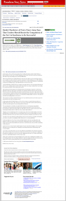 Dmitri Chavkerov  Pasadena Star-News (Pasadena, CA)  news story on long term trading success