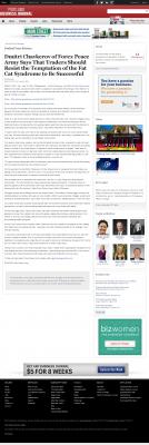 Dmitri Chavkerov  Portland Business Journal  news story on long term trading success