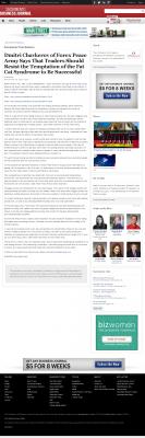 Dmitri Chavkerov  Sacramento Business Journal  news story on long term trading success