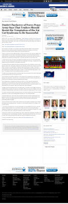 Dmitri Chavkerov  San Antonio Business Journal  news story on long term trading success
