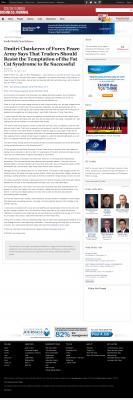 Dmitri Chavkerov  South Florida Business Journal  news story on long term trading success