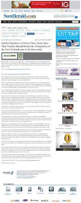 Dmitri Chavkerov  Sun Herald (Biloxi, MS)  news story on long term trading success