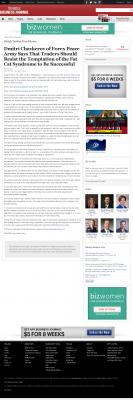 Dmitri Chavkerov  Triangle Business Journal  news story on long term trading success