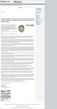 Dmitri Chavkerov  Worcester Telegram & Gazette  news story on long term trading success