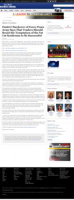 Dmitri Chavkerov  Baltimore Business Journal  news story on long term trading success