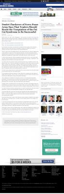Dmitri Chavkerov  Business Journal of Greater Milwaukee  news story on long term trading success