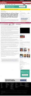 Dmitri Chavkerov  Dayton Business Journal  news story on long term trading success