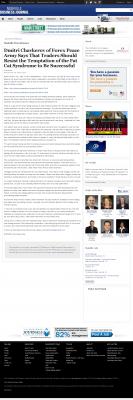 Dmitri Chavkerov  Nashville Business Journal  news story on long term trading success