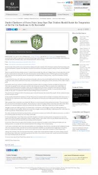 Dmitri Chavkerov  PR Newswire  news story on long term trading success