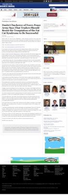 Dmitri Chavkerov  Philadelphia Business Journal  news story on long term trading success