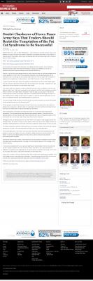 Dmitri Chavkerov  Pittsburgh Business Times  news story on long term trading success