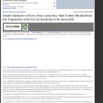Dmitri Chavkerov Ruidoso News (Ruidoso, NM) news story on long term trading success