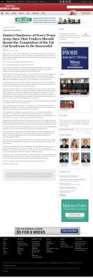 Dmitri Chavkerov  Tampa Bay Business Journal  news story on long term trading success